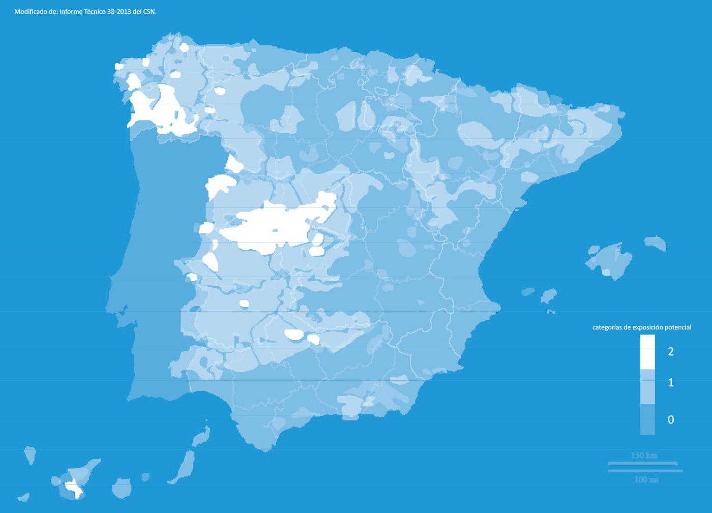 Radón en España